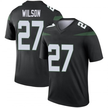 Youth Nike New York Jets Quincy Wilson Stealth Black Color Rush Jersey - Legend