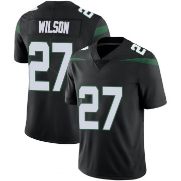 Youth Nike New York Jets Quincy Wilson Stealth Black Vapor Jersey - Limited