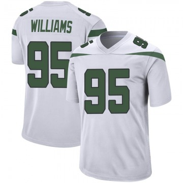 Youth Nike New York Jets Quinnen Williams Spotlight White Jersey - Game