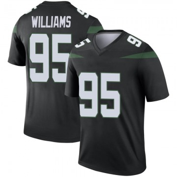Youth Nike New York Jets Quinnen Williams Stealth Black Color Rush Jersey - Legend