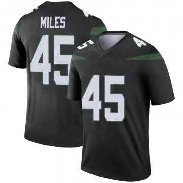 Youth Nike New York Jets Rontez Miles Stealth Black Color Rush Jersey - Legend
