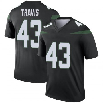 Youth Nike New York Jets Ross Travis Stealth Black Color Rush Jersey - Legend