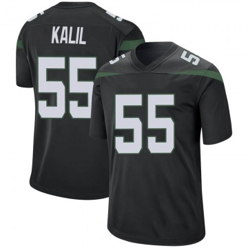 Youth Nike New York Jets Ryan Kalil Stealth Black Jersey - Game