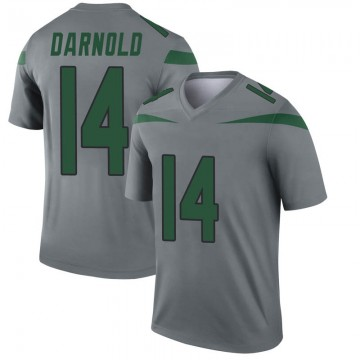 Youth Nike New York Jets Sam Darnold Gray Inverted Jersey - Legend