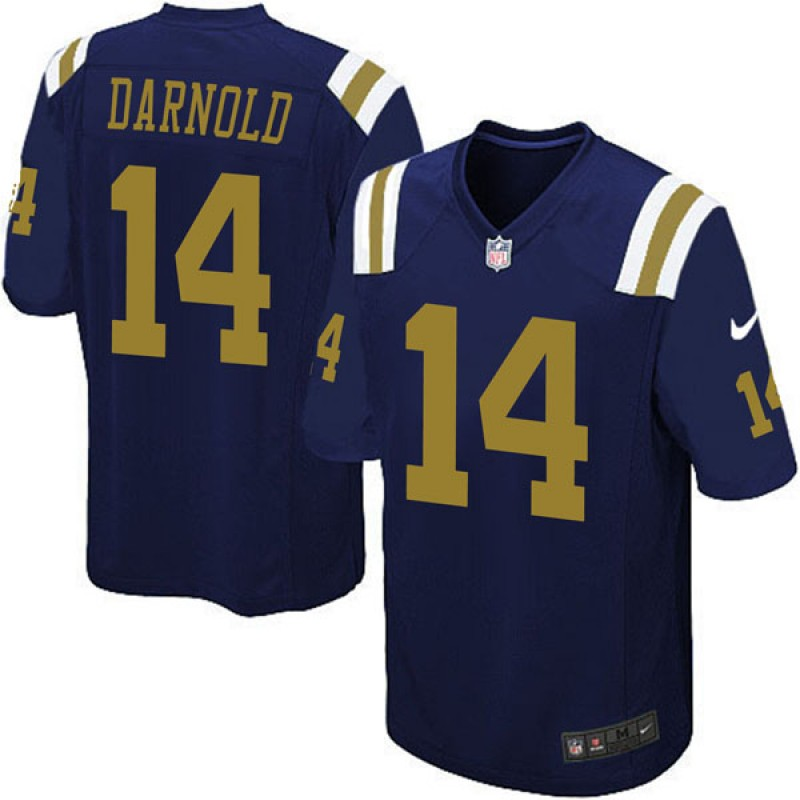 online retailer 0e716 a5c5c Youth Nike New York Jets Sam Darnold Navy Blue Alternate Jersey - Game