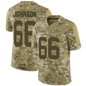 Youth Nike New York Jets Sterling Johnson Camo 2018 Salute to Service Jersey - Limited