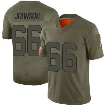 Youth Nike New York Jets Sterling Johnson Camo 2019 Salute to Service Jersey - Limited
