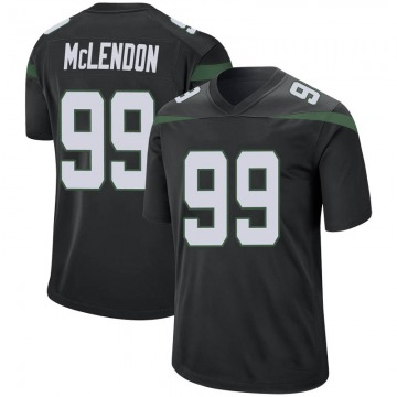 Youth Nike New York Jets Steve McLendon Stealth Black Jersey - Game