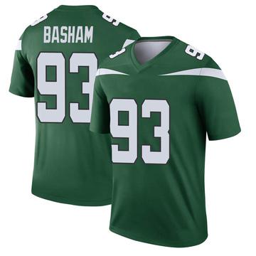 Youth Nike New York Jets Tarell Basham Gotham Green Player Jersey - Legend