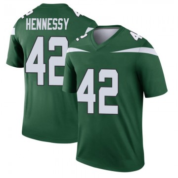 Youth Nike New York Jets Thomas Hennessy Gotham Green Player Jersey - Legend