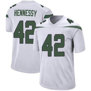 Youth Nike New York Jets Thomas Hennessy Spotlight White Jersey - Game