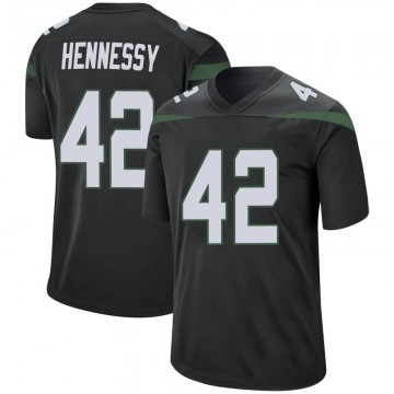 Youth Nike New York Jets Thomas Hennessy Stealth Black Jersey - Game