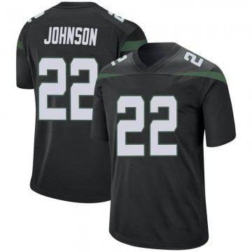 Youth Nike New York Jets Trumaine Johnson Stealth Black Jersey - Game