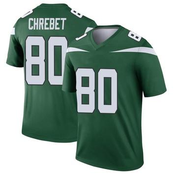 Youth Nike New York Jets Wayne Chrebet Gotham Green Player Jersey - Legend