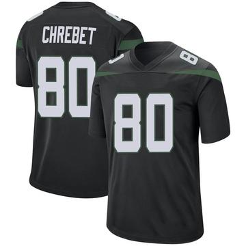Youth Nike New York Jets Wayne Chrebet Stealth Black Jersey - Game