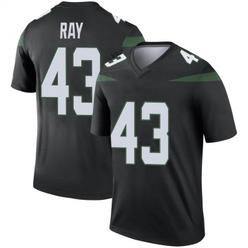 Youth Nike New York Jets Wyatt Ray Stealth Black Color Rush Jersey - Legend